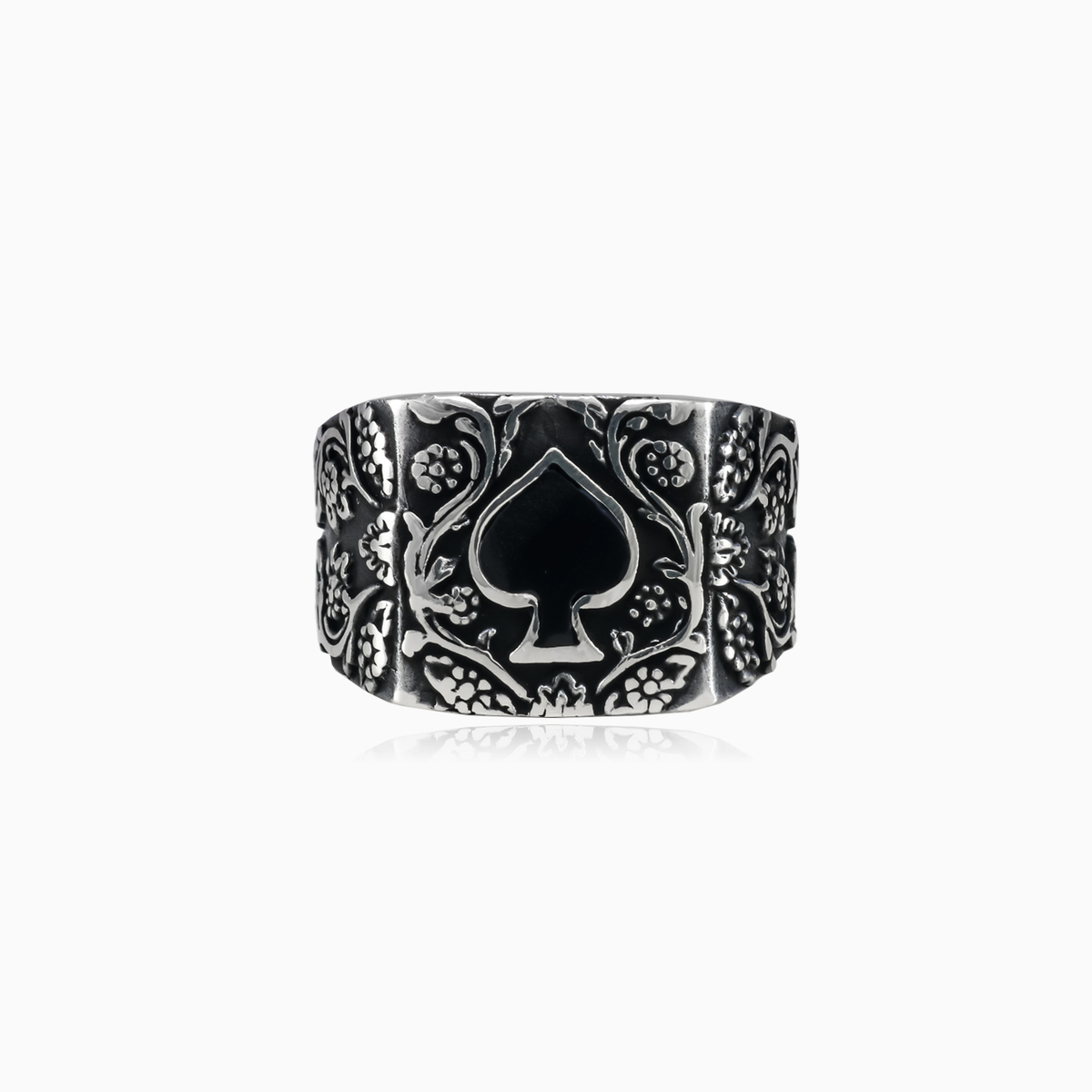alpha black sterling diamonds d ring s man rings shop men titanium with silver