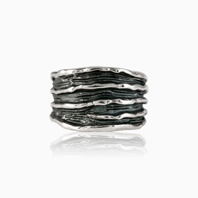 Silver wire ring man rings