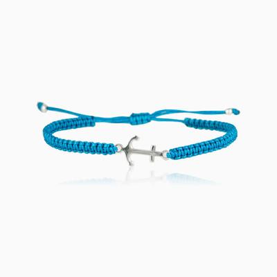 Blue Anchor bracelet man Bracelets Simbólico