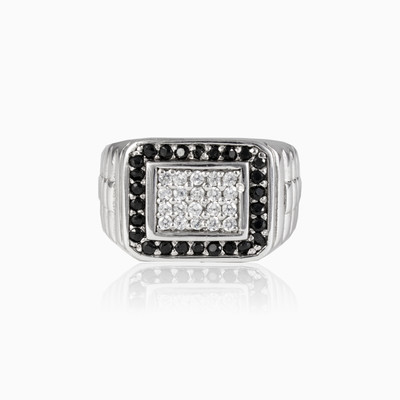 Crystal and spinel ring unisex Rings oyster strap