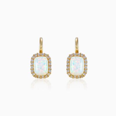 Rectangle opal earrings woman Earrings Royal