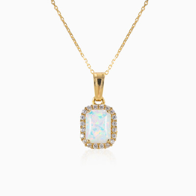 Rectangle opal pendant woman pendants MC Gold