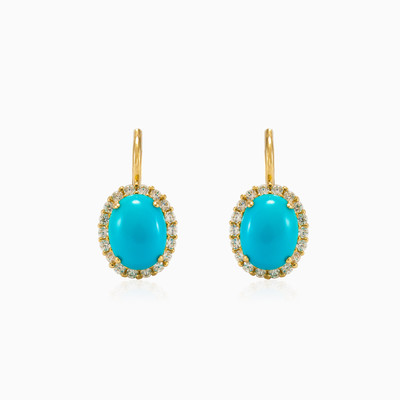 Halo Turquoise earrings woman earrings Royal