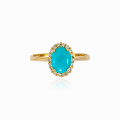 Halo Turquoise ring woman rings MC Gold
