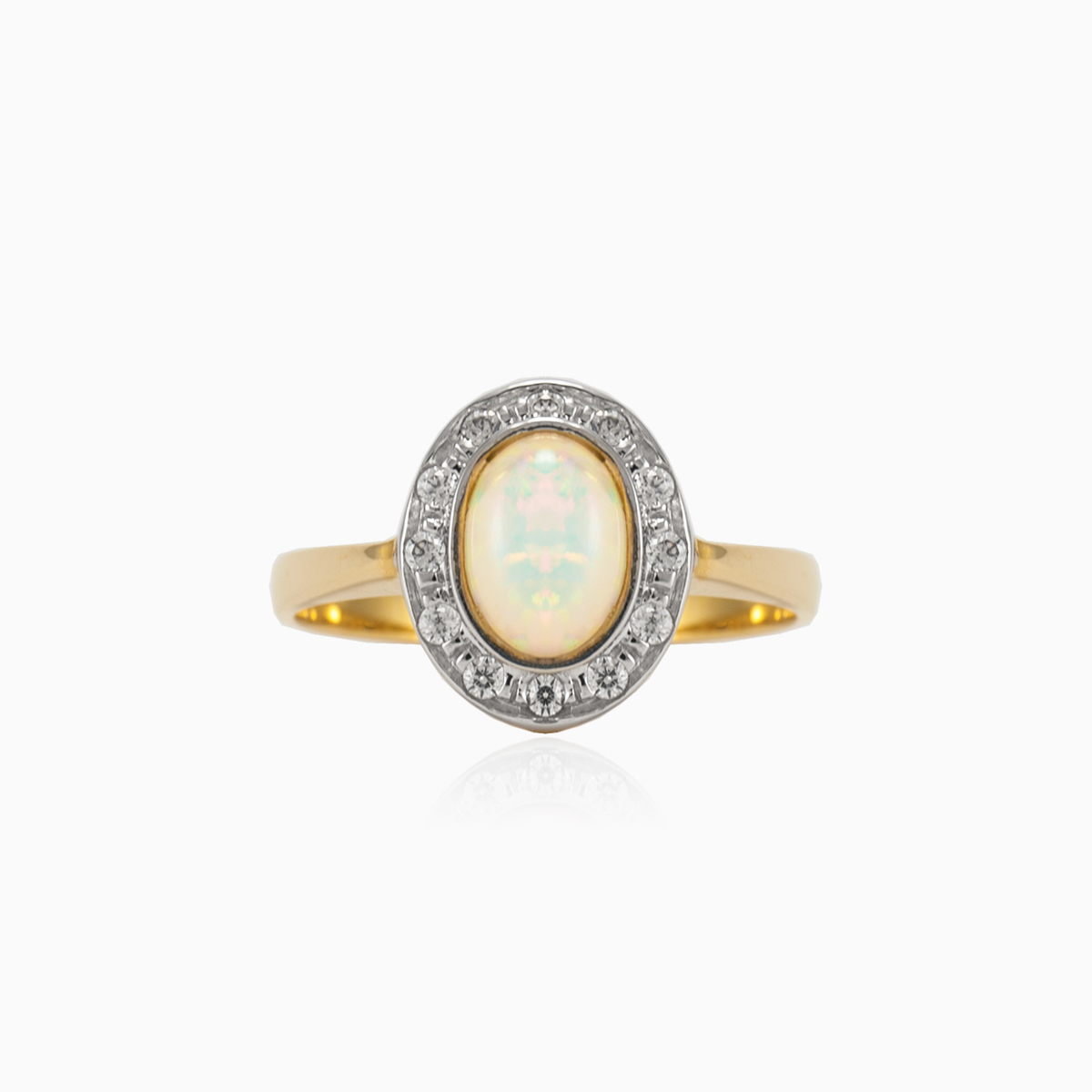 c59b1458fba Vintage gold ring with opal for women - Monte Cristo